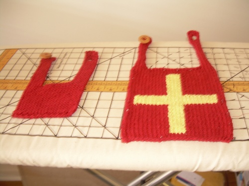 Red Baby Bibs in Two Different Styles